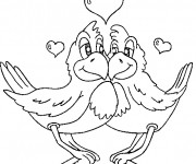Coloriage St-Valentin Animaux