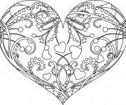 Coloriage St-Valentin Coeur magnifique