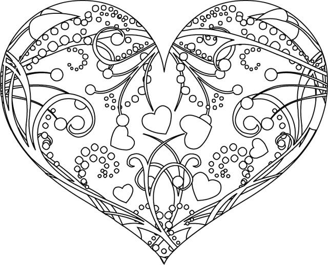 Coloriage St Valentin Coeur Magnifique Dessin Gratuit à Imprimer