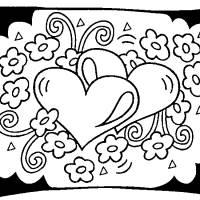 Coloriage et dessins gratuit St-Valentin Coeurs à imprimer