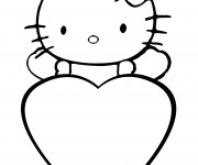 Coloriage St-Valentin dessin animé