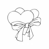 Coloriage et dessins gratuit St-Valentin en couleur à imprimer