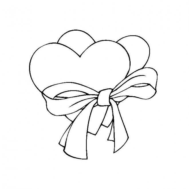Coloriage et dessins gratuits St-Valentin en couleur à imprimer