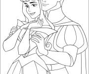 Coloriage et dessins gratuit St-Valentin La Princesse amoureuse à imprimer