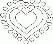 Coloriage St-Valentin Mandala Coeurs