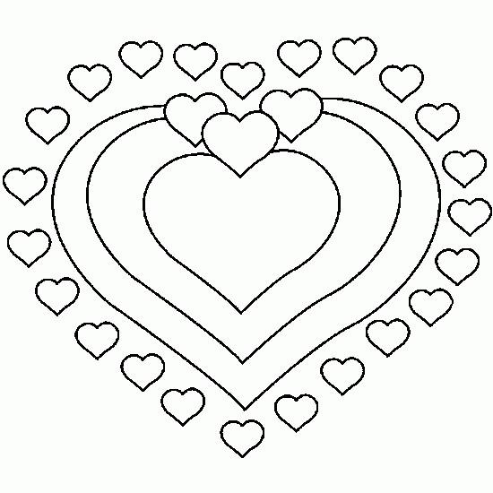 Coloriage St Valentin Mandala Coeurs Dessin Gratuit à Imprimer