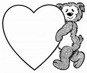 Coloriage St-Valentin pour Les Petits
