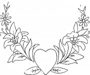 Coloriage St-Valentin superbe Coeur
