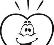 Coloriage et dessins gratuit Un Coeur amoureux à imprimer