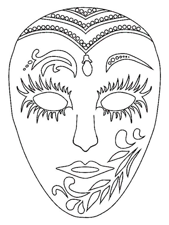 Coloriage et dessins gratuits Un Masque Carnaval à colorier à imprimer