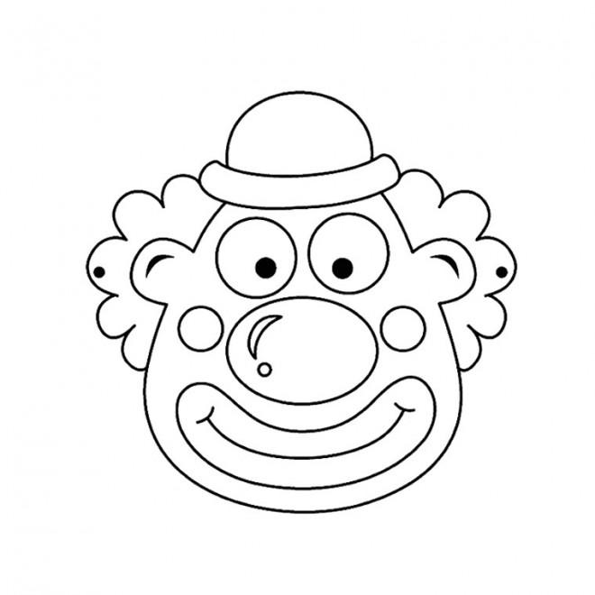 Coloriage et dessins gratuits Un visage de clown à imprimer