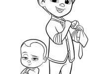 Coloriage et dessins gratuit Bébé Boss et Tim à imprimer