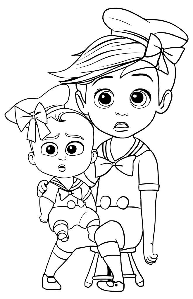 Coloriage et dessins gratuits Bébé Boss et Tim en couleur à imprimer