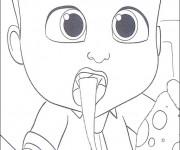 Coloriage et dessins gratuit Bébé Boss surpris à imprimer