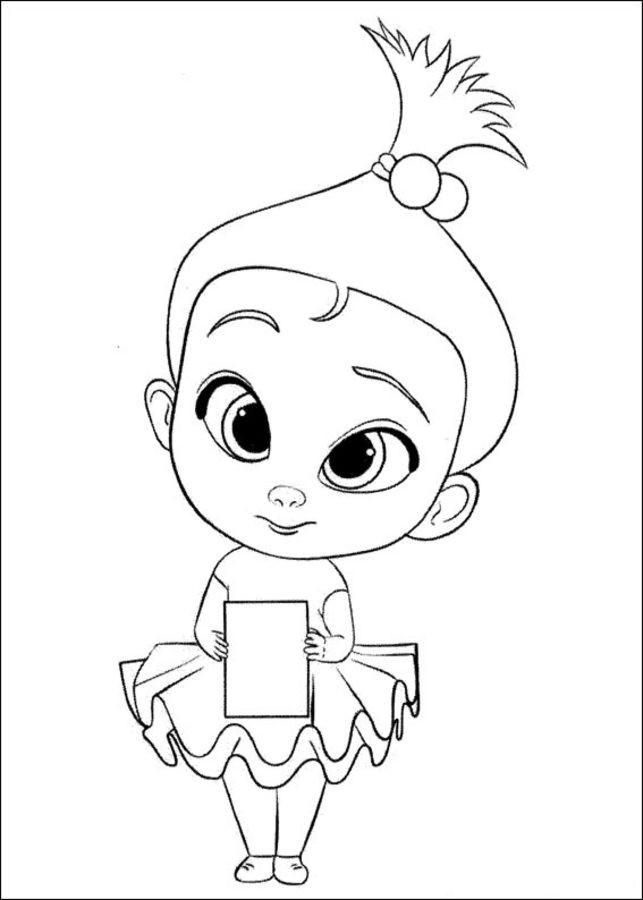 Coloriage et dessins gratuits L'Amoureuse de Bébé Boss à imprimer