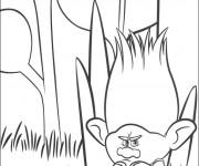 Coloriage Branche en colère