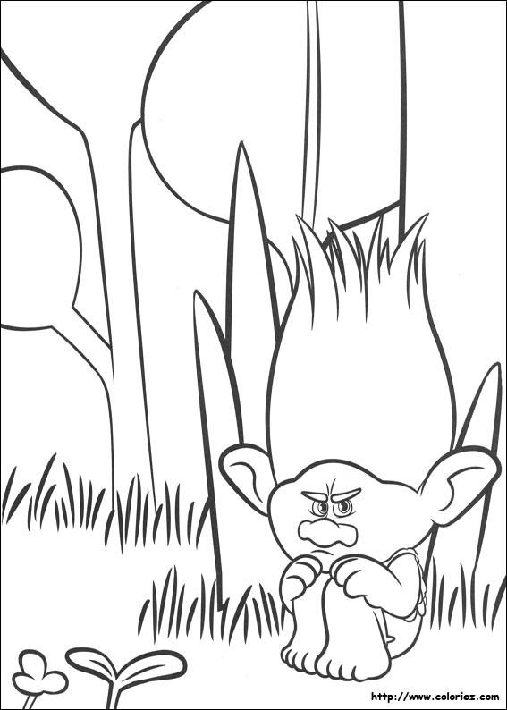 Coloriage et dessins gratuits Branche en colère à imprimer