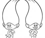 Coloriage dessin  Les trolls dansent