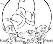 Coloriage dessin  Les trolls Dreamworks