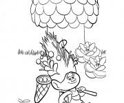 Coloriage dessin  Les trolls Poppy à l'aventure
