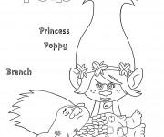 Coloriage Les trolls Princesse Poppy