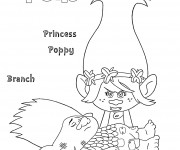 Coloriage dessin  Les trolls Princesse Poppy