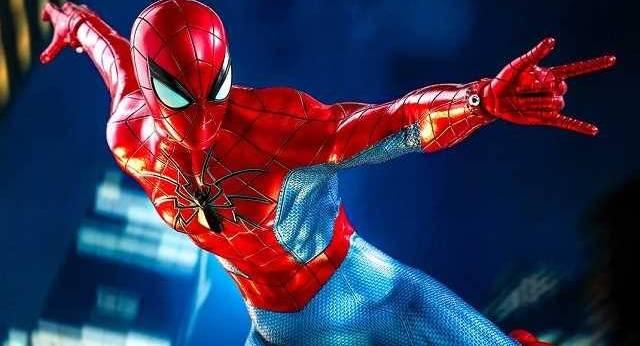 La figurine d'action SPIDER-MAN PS4 présente un regard ...
