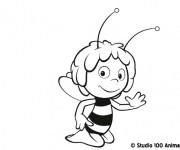 Coloriage et dessins gratuit Abeille Maya 6 à imprimer