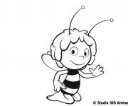 Coloriage et dessins gratuit Abeille Maya te salue à imprimer