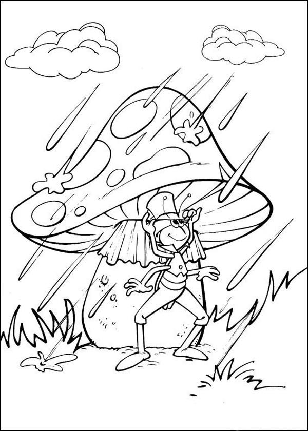 Coloriage et dessins gratuits Flip sous la pluie à imprimer