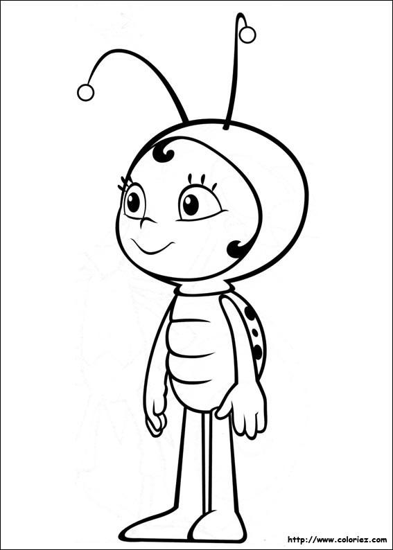 Coloriage et dessins gratuits Lara en noir et blanc à imprimer