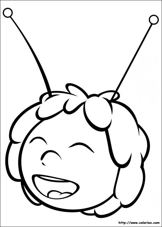 Coloriage et dessins gratuits Tête de Maya l'abeille à imprimer