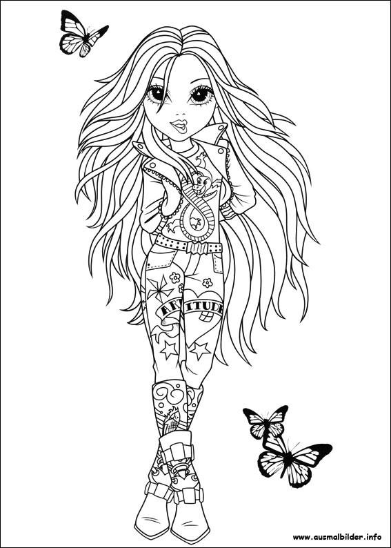 Coloriage et dessins gratuits Ado dessin animé à imprimer