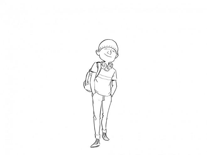 Coloriage et dessins gratuits Ado 6 à imprimer