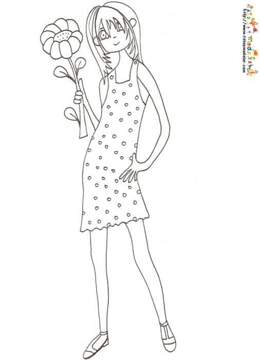 Coloriage et dessins gratuits Ado 7 à imprimer
