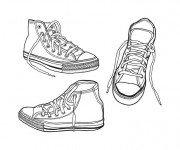 Coloriage Ado Chaussures