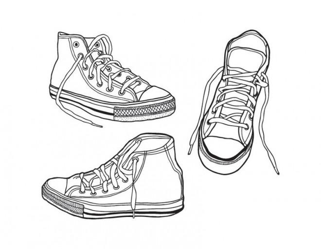 Coloriage et dessins gratuits Ado Chaussures à imprimer