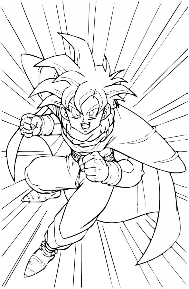 Coloriage et dessins gratuits Ado Dragon Ball Z à imprimer