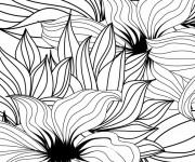 Coloriage Adulte Anti-stress Fleurs magique