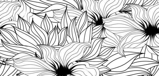 Coloriage et dessins gratuits Adulte Anti-stress Fleurs magique à imprimer