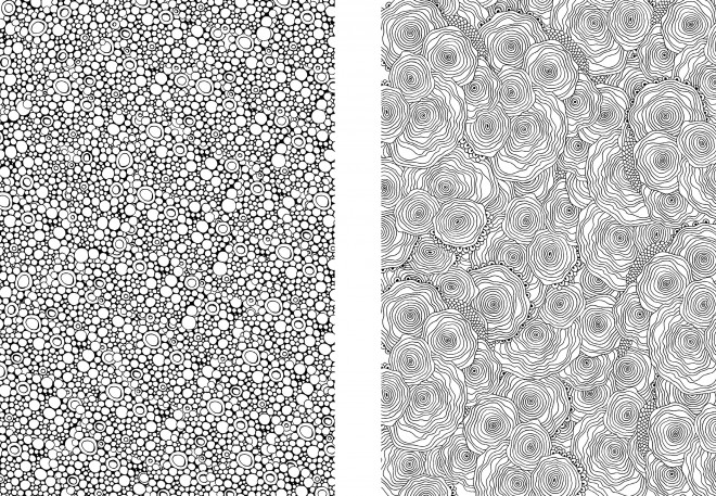 Coloriage et dessins gratuits Adulte Anti-stress Lignes et Bubbles à imprimer