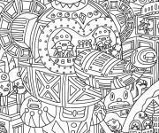 Coloriage et dessins gratuit Adulte Noel maternelle à imprimer