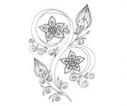 Coloriage et dessins gratuit Fleur Adulte Art Thérapie à imprimer