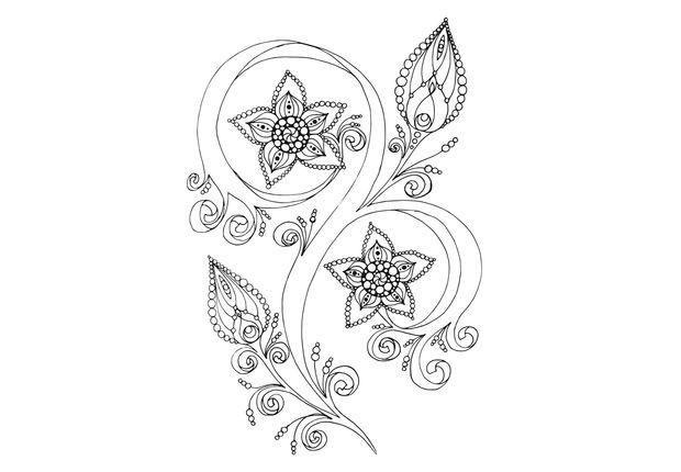 Coloriage et dessins gratuits Fleur Adulte Art Thérapie à imprimer