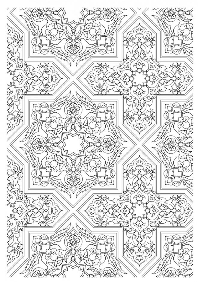 Coloriage Zen Adulte destressant dessin gratuit à imprimer