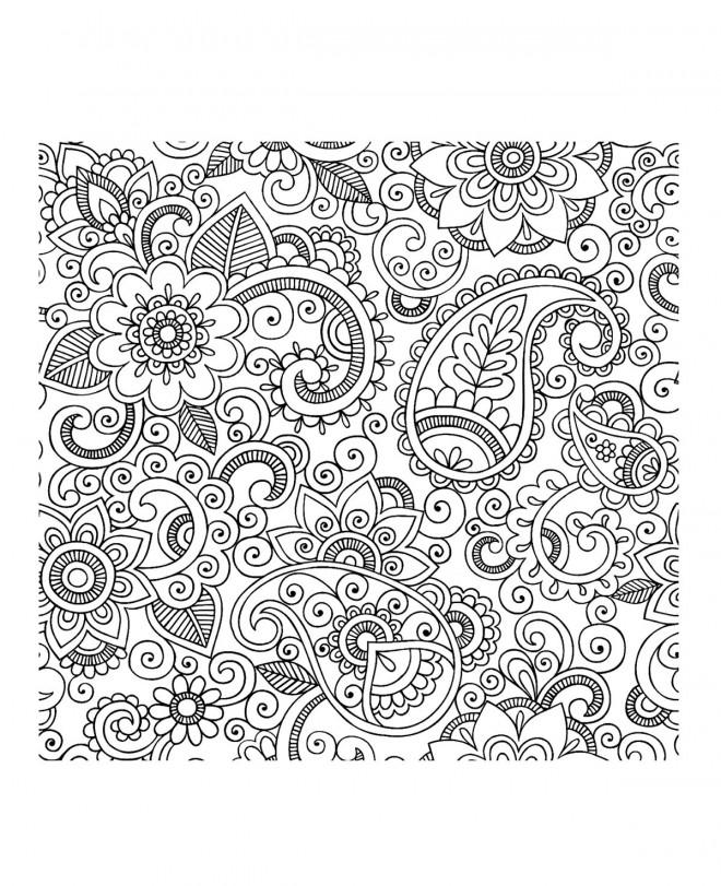 Coloriage adulte destressant dessin gratuit imprimer - Coloriage destressant ...