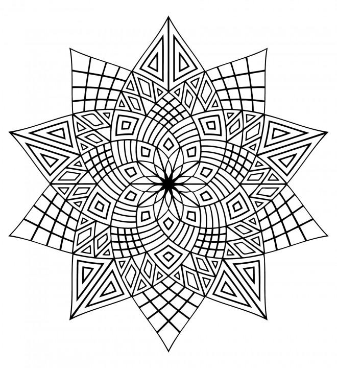 Coloriage et dessins gratuits Adulte Difficile étoiles à imprimer