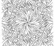 Coloriage dessin  Adulte Difficile 4