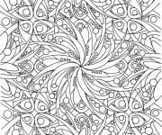 Coloriage et dessins gratuit Adulte plante et Feuille Difficile à imprimer