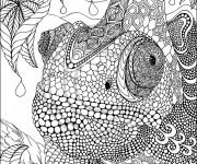 Coloriage et dessins gratuit Art Zen Lézard à imprimer